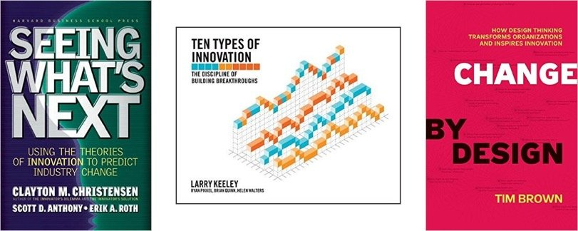 Innovation as growth engine - key book covers on innovation