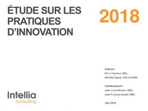 page titre Étude 2018 sur les pratiques d'innovation
